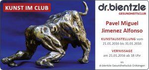 Kunstausstellung von und mit Pavel Miguel Jimenez Alfonso im dr.bientzle Gesundheitsclub Grötzingen