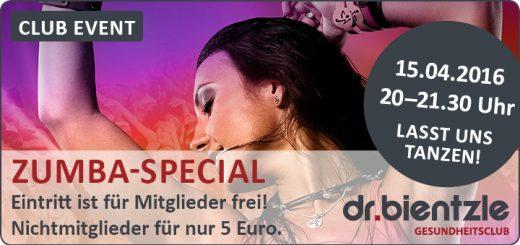 Club Event: Lasst uns tanzen - Zumba-Special am 15.04.2016
