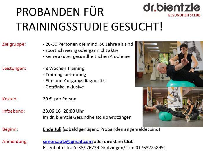 dr.bientzle Gesundheitsclub Grötzingen: Probanden gesucht