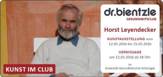 Kunstausstellung von und mit Horst Leyendecker im dr.bientzle Gesundheitsclub Grötzingen