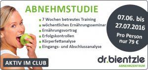 7-wöchige Abnehmstudie im dr.bientzle Gesundheitsclub Grötzingen vom 07.06. bis 25.07.2016