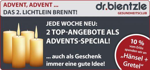 Sportliche Angebote zum 2. Advent im dr.bientzle Gesundheitsclub Grötzingen