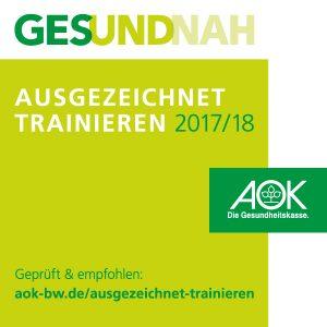 Ausgezeichnet trainieren - das AOK-Siegel