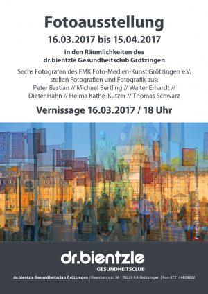 Flyer zur Fotoausstellung im dr.bientzle Gesundheitsclub Grötzingen