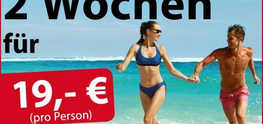 Projekt Beachfigur 2017 ZU ZWEIT: 2 Wochen Training für 19 Euro pro Person