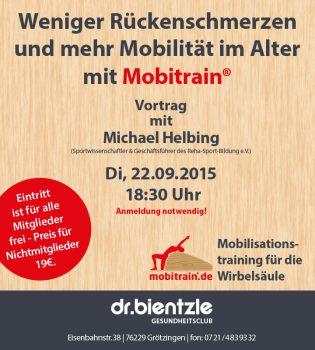 Vortrag im Club: Mobilisationstraining für die Wirbelsäule