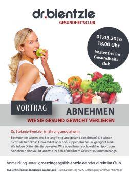 Vortrag im Club: ABNEHMEN – Wie Sie gesund Gewicht verlieren