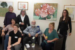 Vernissage zur Kunstausstellung mit Horst Leyendecker im dr.bientzle Gesundheitsclub Grötzingen