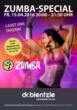 Club Event: Lasst uns tanzen – Zumba-Special am 15.04.2016