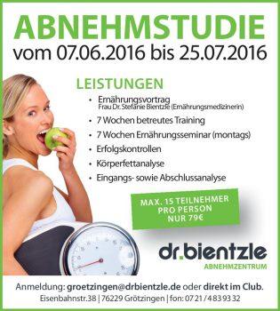 Club Aktiv: Abnehmstudie im dr.bientzle Gesundheitsclub Grötzingen