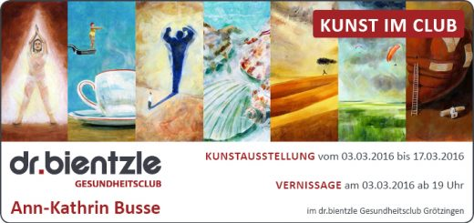 Kunstausstellung von und mit Ann-Kathrin Busse im dr.bientzle Gesundheitsclub Grötzingen