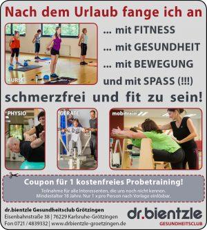 Nach dem Urlaub fange ich an mit Fitness, Gesundheit, Bewegung und mit Spaß (!!!) schmerzfrei und fit zu sein!