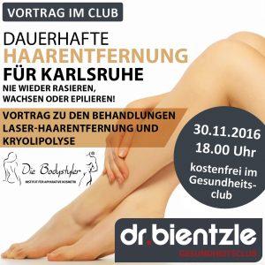 Laser-Haarentfernung und Kryolipolyse – Vortrag im dr.bientzle Gesundheitsclub Grötzingen