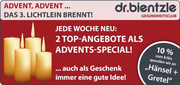 Sportliche Angebote zum 3. Advent im dr.bientzle Gesundheitsclub Grötzingen