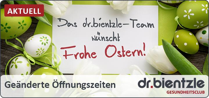 Osteröffungszeiten im dr.bientzle Gesundheitsclub Grötzingen