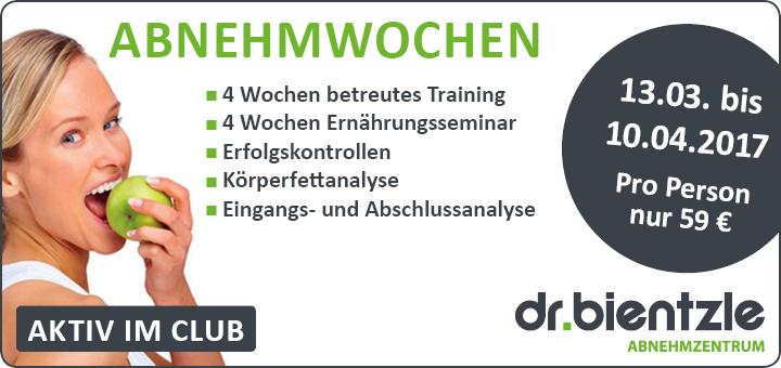 Abnehmwochen im dr.bientzle Gesundheitsclub vom 13.03. bis 10.04.2017