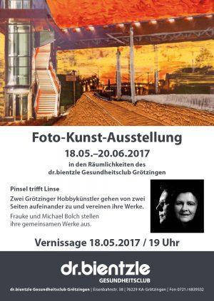 Flyer zur Foto-Kunst-Ausstellung vom 18.05. bis 20.06.2017