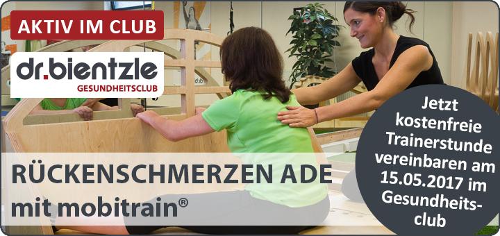 RÜCKENSCHMERZEN ADE mit gezieltem Training am mobitrain-Zirkel