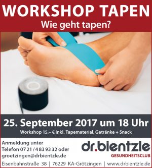 Workshop am 25.09.2017: Wie geht Tapen?